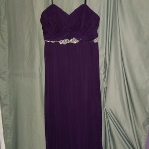 Strapless Gown with Sequin Belting